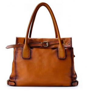La Poet Genuine Leather Shoulder Tote Bag