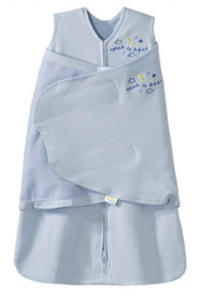 HALO SleepSack 100% Cotton Swaddle, Baby Blue, Newborn